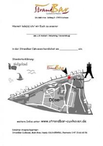 Einladungskarten StrandBar Cuxhaven